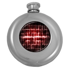 Electric Lines Pattern Round Hip Flask (5 oz)
