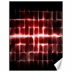 Electric Lines Pattern Canvas 12  X 16
