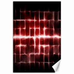 Electric Lines Pattern Canvas 24  x 36