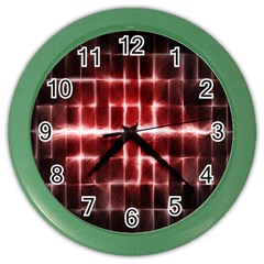 Electric Lines Pattern Color Wall Clocks