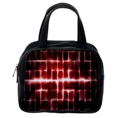 Electric Lines Pattern Classic Handbags (One Side)