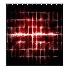 Electric Lines Pattern Shower Curtain 66  x 72  (Large)