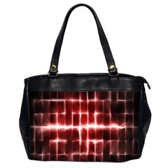 Electric Lines Pattern Office Handbags (2 Sides)