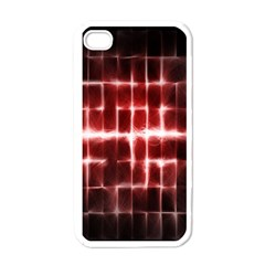 Electric Lines Pattern Apple Iphone 4 Case (white)