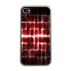 Electric Lines Pattern Apple iPhone 4 Case (Clear)