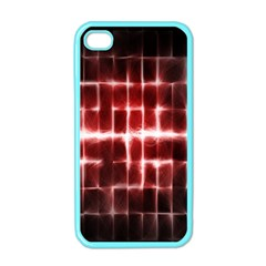 Electric Lines Pattern Apple iPhone 4 Case (Color)