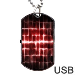 Electric Lines Pattern Dog Tag Usb Flash (one Side)