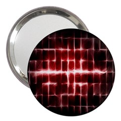 Electric Lines Pattern 3  Handbag Mirrors