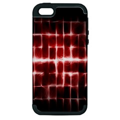 Electric Lines Pattern Apple iPhone 5 Hardshell Case (PC+Silicone)