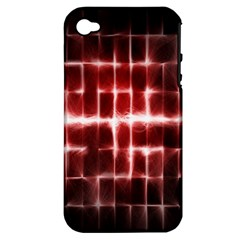 Electric Lines Pattern Apple iPhone 4/4S Hardshell Case (PC+Silicone)