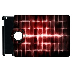 Electric Lines Pattern Apple iPad 2 Flip 360 Case