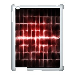 Electric Lines Pattern Apple iPad 3/4 Case (White)