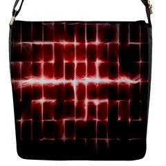 Electric Lines Pattern Flap Messenger Bag (S)