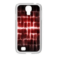Electric Lines Pattern Samsung GALAXY S4 I9500/ I9505 Case (White)