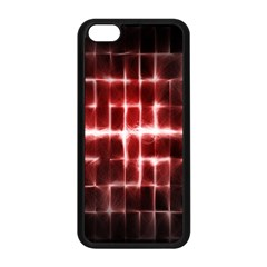 Electric Lines Pattern Apple iPhone 5C Seamless Case (Black)