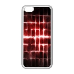 Electric Lines Pattern Apple iPhone 5C Seamless Case (White)