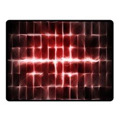 Electric Lines Pattern Double Sided Fleece Blanket (small)
