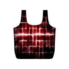 Electric Lines Pattern Full Print Recycle Bags (S)