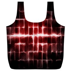 Electric Lines Pattern Full Print Recycle Bags (L)