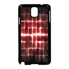 Electric Lines Pattern Samsung Galaxy Note 3 Neo Hardshell Case (Black)