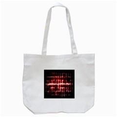 Electric Lines Pattern Tote Bag (White)
