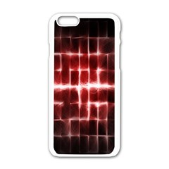 Electric Lines Pattern Apple iPhone 6/6S White Enamel Case