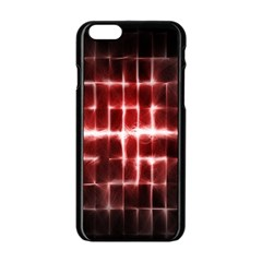 Electric Lines Pattern Apple Iphone 6/6s Black Enamel Case