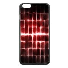 Electric Lines Pattern Apple iPhone 6 Plus/6S Plus Black Enamel Case