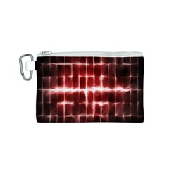 Electric Lines Pattern Canvas Cosmetic Bag (S)