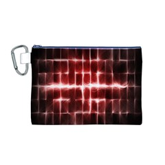 Electric Lines Pattern Canvas Cosmetic Bag (M)