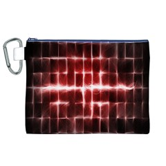 Electric Lines Pattern Canvas Cosmetic Bag (XL)