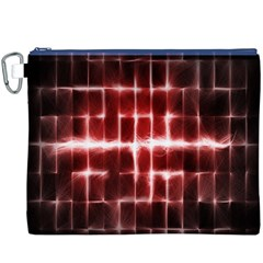 Electric Lines Pattern Canvas Cosmetic Bag (XXXL)