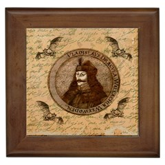 Count Vlad Dracula Framed Tiles