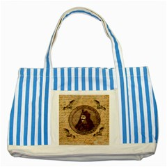 Count Vlad Dracula Striped Blue Tote Bag
