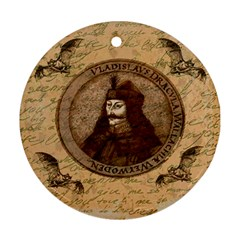 Count Vlad Dracula Round Ornament (Two Sides)