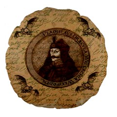 Count Vlad Dracula Large 18  Premium Flano Round Cushions