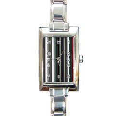 Miracle Mile Pattern Rectangle Italian Charm Watch