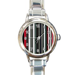 Miracle Mile Pattern Round Italian Charm Watch