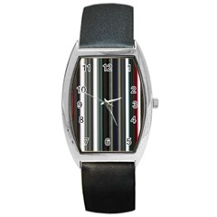 Miracle Mile Pattern Barrel Style Metal Watch