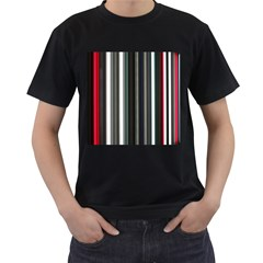 Miracle Mile Pattern Men s T-Shirt (Black) (Two Sided)