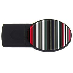 Miracle Mile Pattern USB Flash Drive Oval (4 GB)