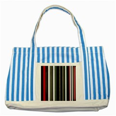 Miracle Mile Pattern Striped Blue Tote Bag