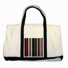 Miracle Mile Pattern Two Tone Tote Bag