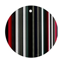 Miracle Mile Pattern Round Ornament (two Sides)
