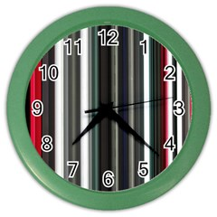 Miracle Mile Pattern Color Wall Clocks