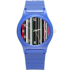Miracle Mile Pattern Round Plastic Sport Watch (S)