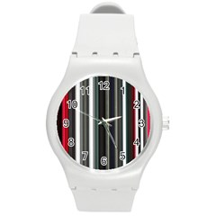Miracle Mile Pattern Round Plastic Sport Watch (M)