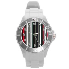 Miracle Mile Pattern Round Plastic Sport Watch (L)