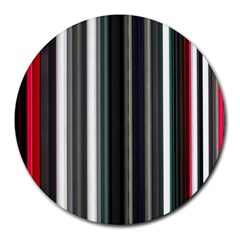 Miracle Mile Pattern Round Mousepads