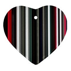 Miracle Mile Pattern Ornament (heart)